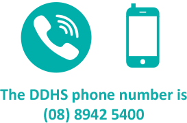 The DDHS phone number is (08) 8942 5400