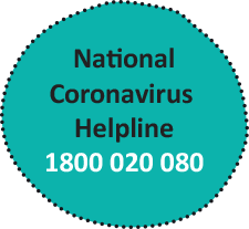 The National Coronavirus helpline is 1800 020 080