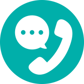 Phone with speech bubble icon